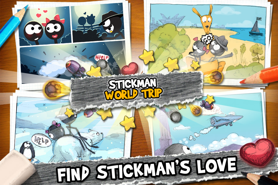 Stickman World Trip iPhone screenshot 2